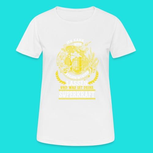 Bier Superkraft - Frauen T-Shirt atmungsaktiv