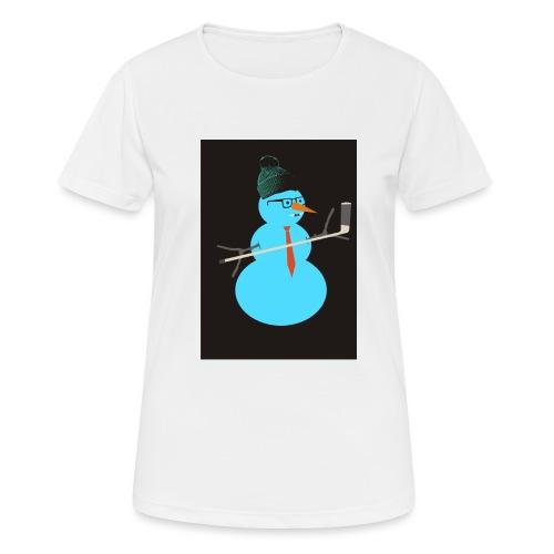 Hockey snowman - naisten tekninen t-paita