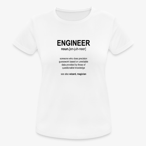 Engineer Def. 1 (Black) - T-shirt respirant Femme