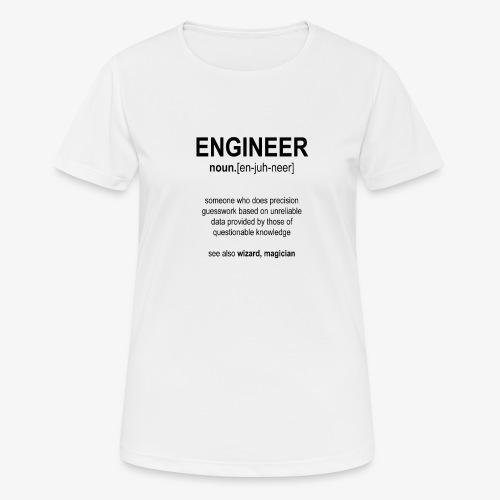 Engineer Def. 1 (Black) - T-shirt respirant Femme