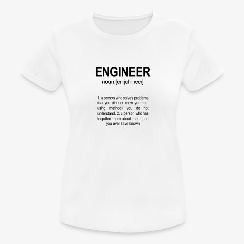 Engineer Def. 2 Black - T-shirt respirant Femme