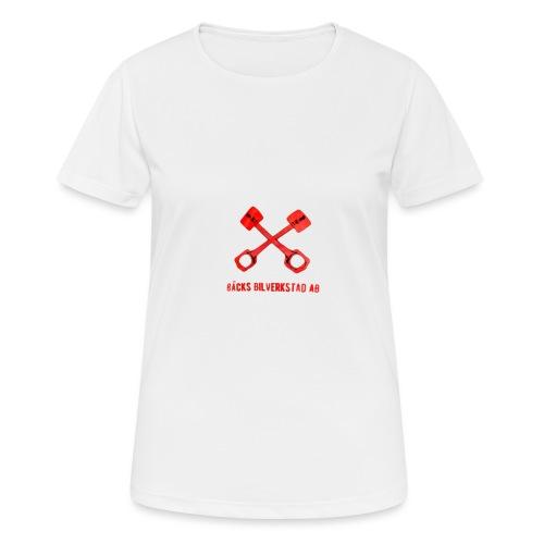 Bäcks bilverkstad - Andningsaktiv T-shirt dam