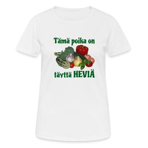 Poika täyttä heviä - naisten tekninen t-paita