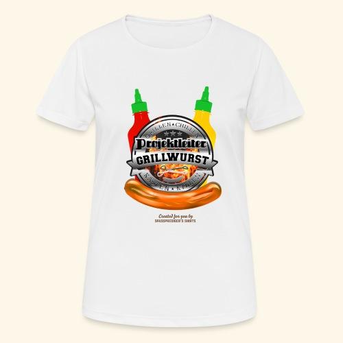 Grillen T Shirt Projektleiter Grillwurst - Frauen T-Shirt atmungsaktiv