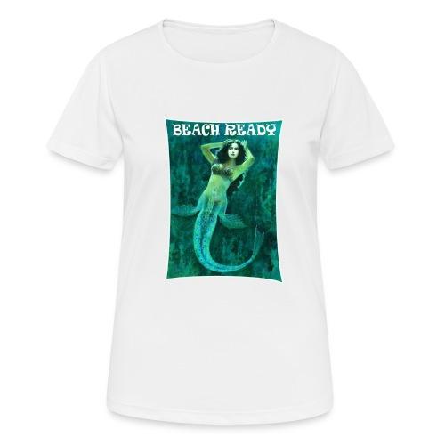 Vintage Pin-up Beach Ready Mermaid - Women's Breathable T-Shirt