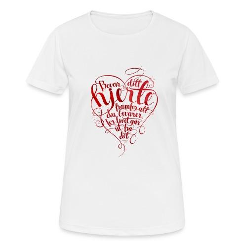Bevar ditt hjerte - Pustende T-skjorte for kvinner
