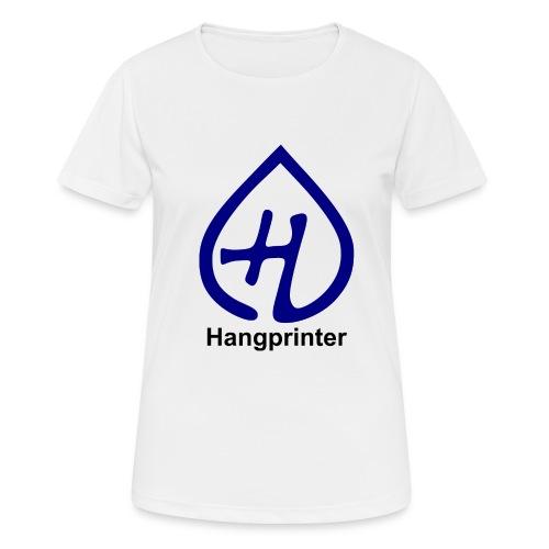 Hangprinter logo and text - Andningsaktiv T-shirt dam