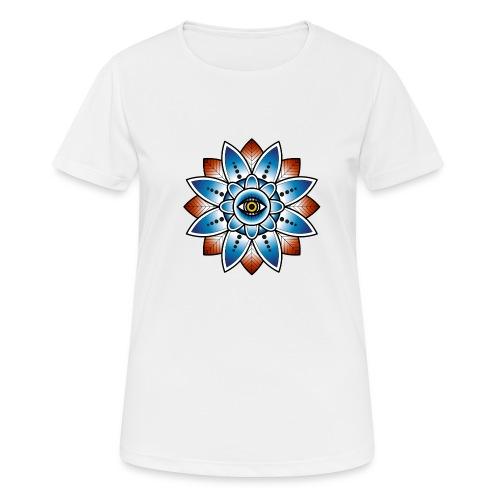 Psychedelisches Mandala mit Auge - Frauen T-Shirt atmungsaktiv