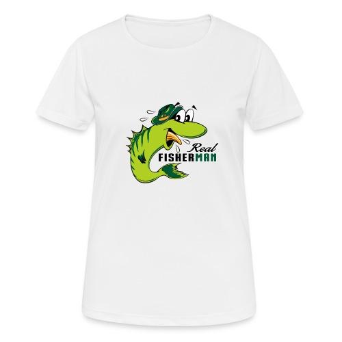 10-38 REAL FISHERMAN - TODELLINEN KALASTAJA - naisten tekninen t-paita
