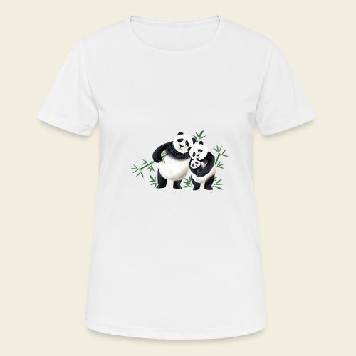 Pandafamilie Baby - Frauen T-Shirt atmungsaktiv