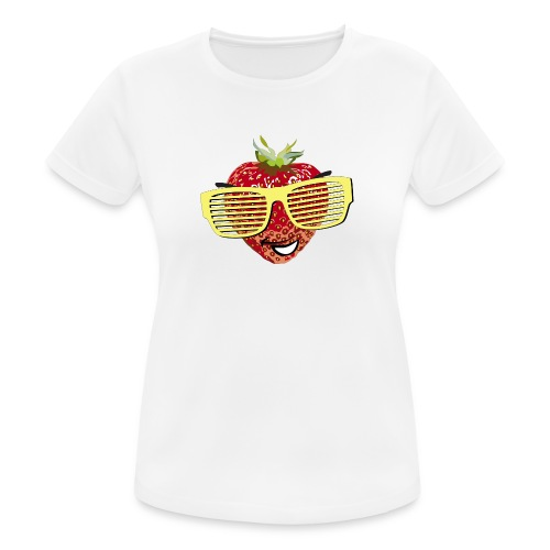 geile Erdbeere coole Sonnenbrille Hipster sunglass - Women's Breathable T-Shirt
