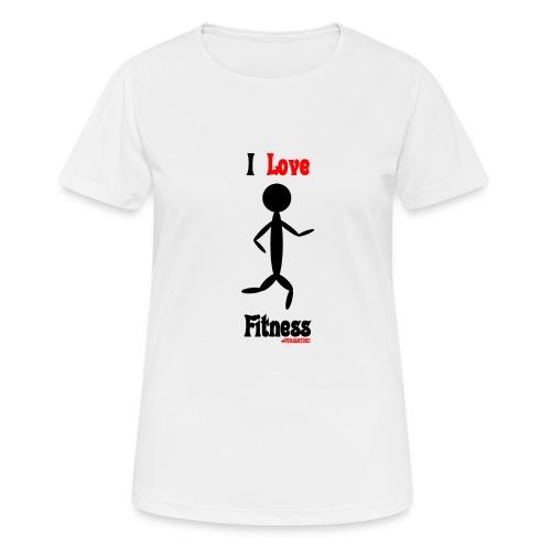 Fitness #FRASIMTIME - Maglietta da donna traspirante