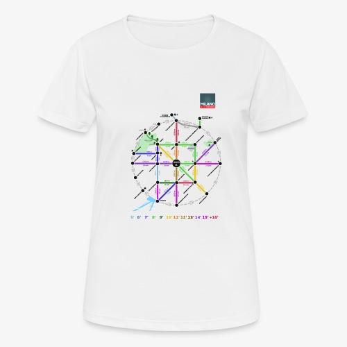 MetroMinuto Milano - Maglietta da donna traspirante