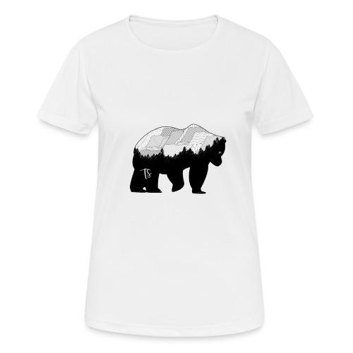 Geometric Mountain Bear - Maglietta da donna traspirante