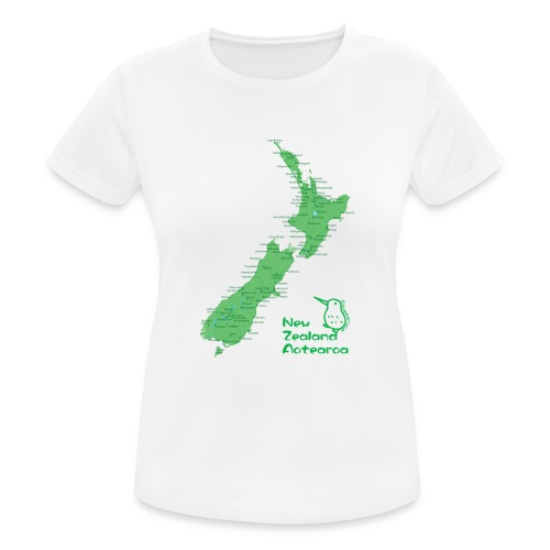 New Zealand's Map - Women's Breathable T-Shirt