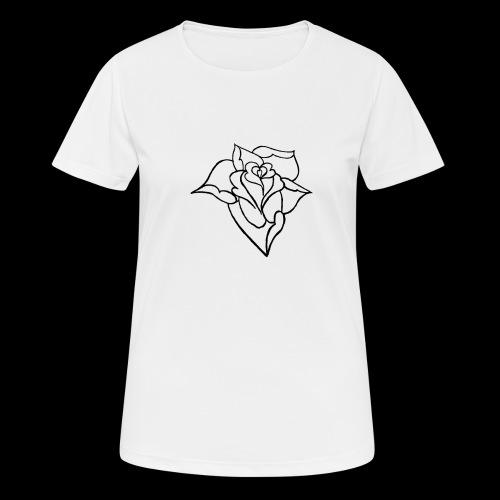 blumen Rose - Frauen T-Shirt atmungsaktiv