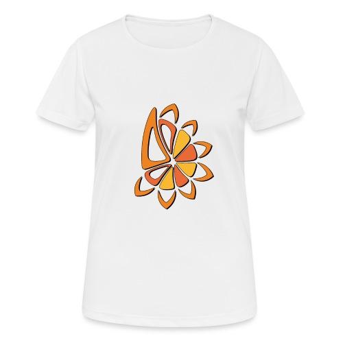 spicchi di sole caldo multicolore - Maglietta da donna traspirante