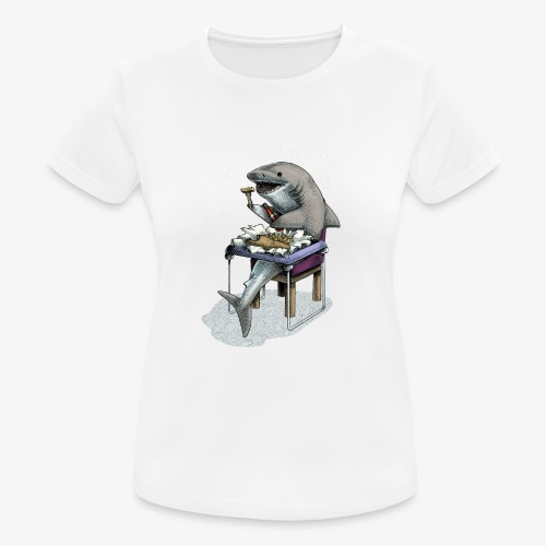 Shark's Fish and Chip dinner - Women's Breathable T-Shirt