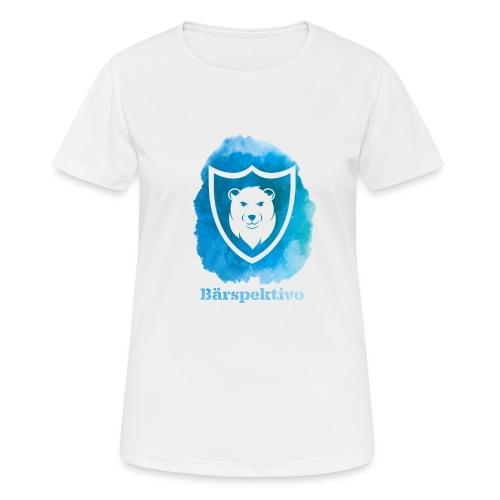 Baerspektivo inkl. Schriftzug in Blau Aquarell - Frauen T-Shirt atmungsaktiv