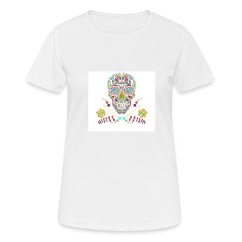 Bunter Totenkopf - Frauen T-Shirt atmungsaktiv
