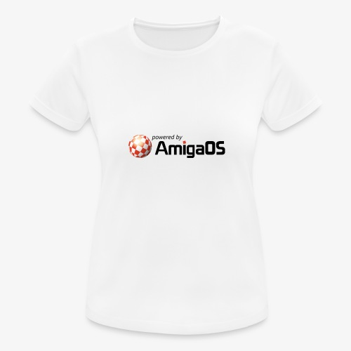 PoweredByAmigaOS Black - Women's Breathable T-Shirt