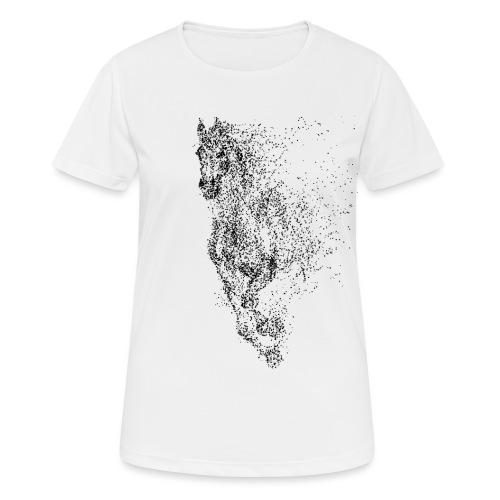 Vorschau: pixel black horse - Frauen T-Shirt atmungsaktiv