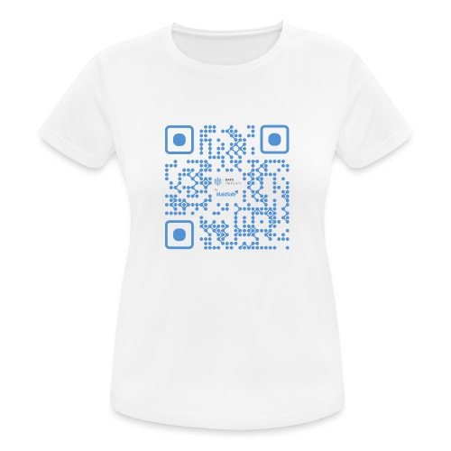 QR Maidsafe.net - Women's Breathable T-Shirt
