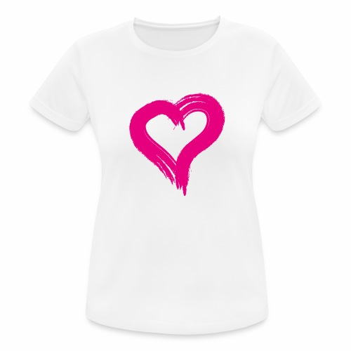 Pink Heart - Women's Breathable T-Shirt