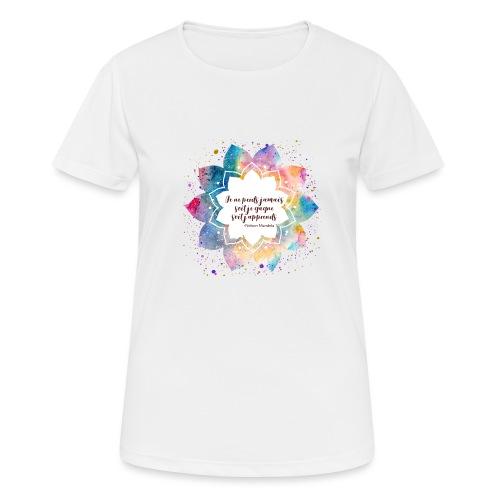 Citation de Nelson Mandela - T-shirt respirant Femme