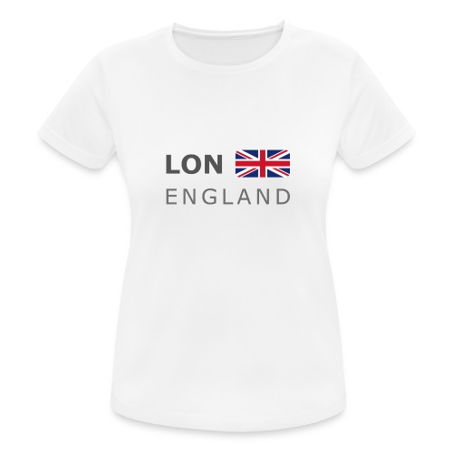 LON ENGLAND BF dark-lettered 400 dpi - Women's Breathable T-Shirt