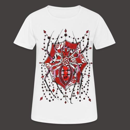 Spider Dentelle Red - T-shirt respirant Femme