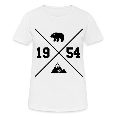 Karhuvuori -baseballhuppari - naisten tekninen t-paita