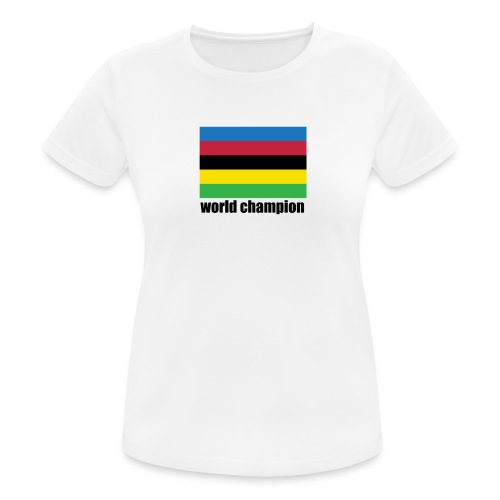 world champion cycling stripes - Vrouwen T-shirt ademend actief