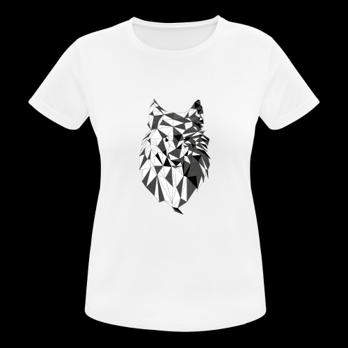 Polygoon wolf - Vrouwen T-shirt ademend actief