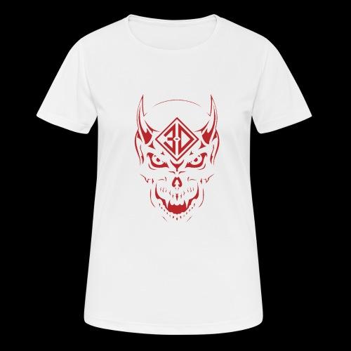devil skull red - T-shirt respirant Femme
