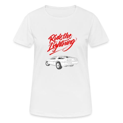 Delorean – Ride The Lightning - Frauen T-Shirt atmungsaktiv