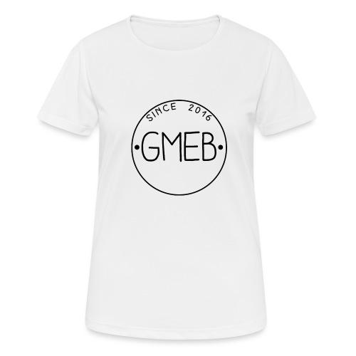 doorschijnend logo ZWART - Vrouwen T-shirt ademend actief