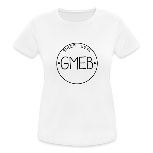 doorschijnend logo ZWART - vrouwen T-shirt ademend