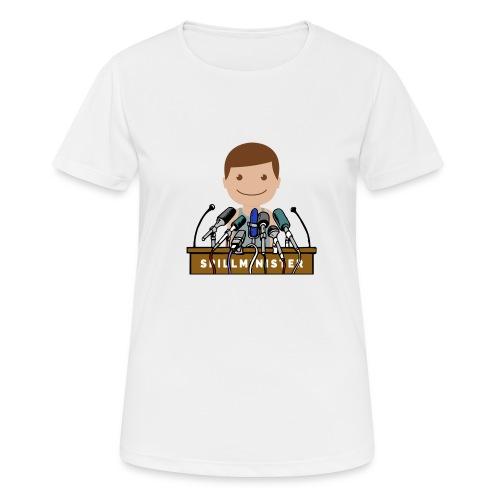 Spillminister logoen - Pustende T-skjorte for kvinner