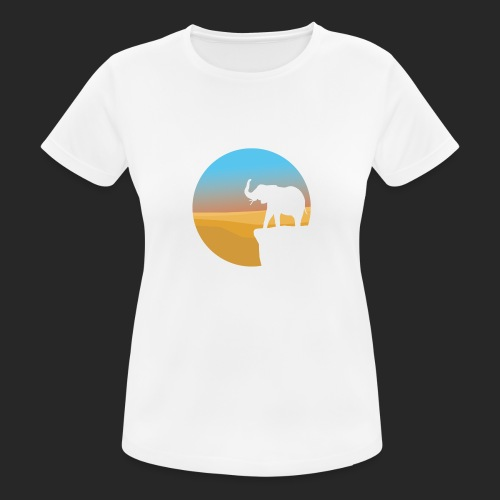 Sunset Elephant - Women's Breathable T-Shirt