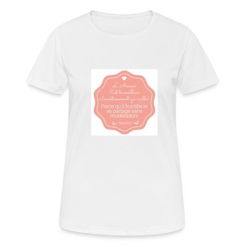 Amour - T-shirt respirant Femme