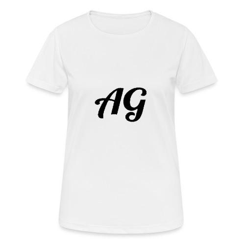 Zwarte Letters - Vrouwen T-shirt ademend actief