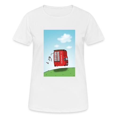 Feuerwehrwagen - Frauen T-Shirt atmungsaktiv