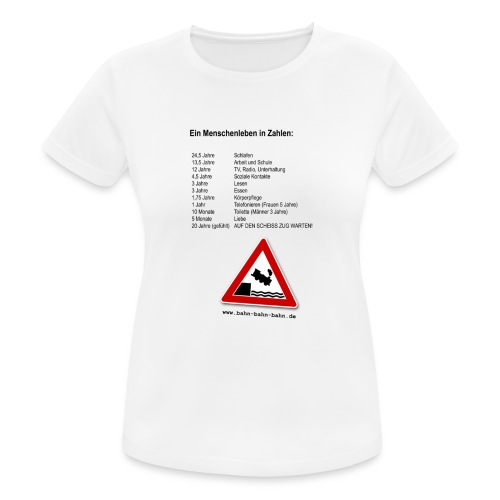 Menschenleben in Zahlen - Frauen T-Shirt atmungsaktiv