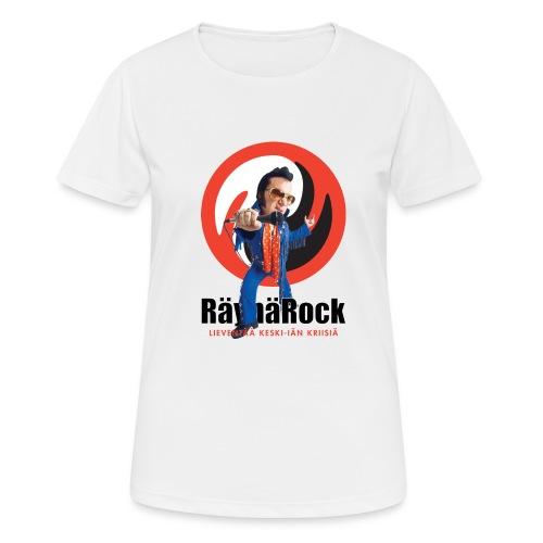 Räyhärock valkoinen - naisten tekninen t-paita