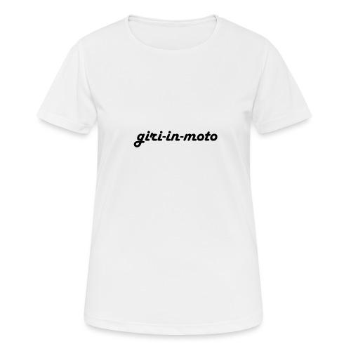 GIRI IN MOTO LIFESTYLE LADY NERO - Maglietta da donna traspirante