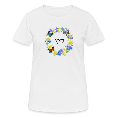 Corona floral verano, hebreo - Camiseta mujer transpirable