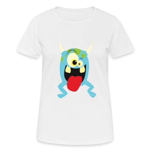 Monster blue - Vrouwen T-shirt ademend actief