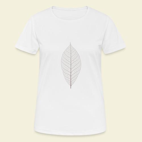 Feuille marron Squelette - T-shirt respirant Femme