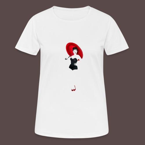 Pin up - Red Umbrella - Maglietta da donna traspirante